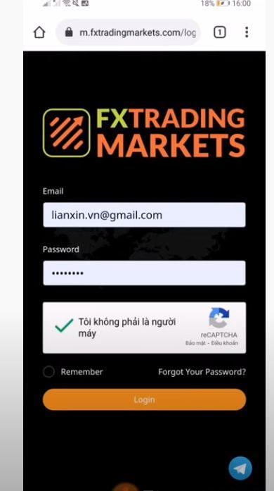 Cách Fxtradingmarkets đăng nhập