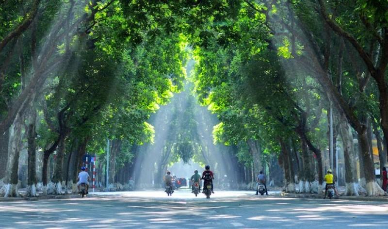 Ảnh đẹp một góc phố Hà Nội xanh