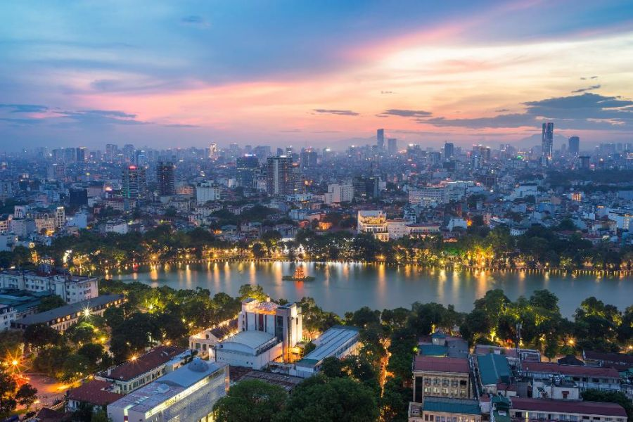 Ảnh đẹp về Hà Nội khi nhìn trên cao