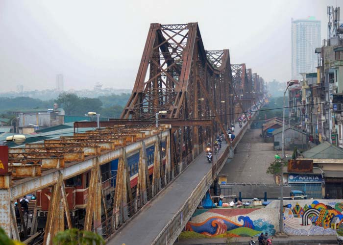 Hình ảnh đẹp cầu Long Biên-Hà Nội nay