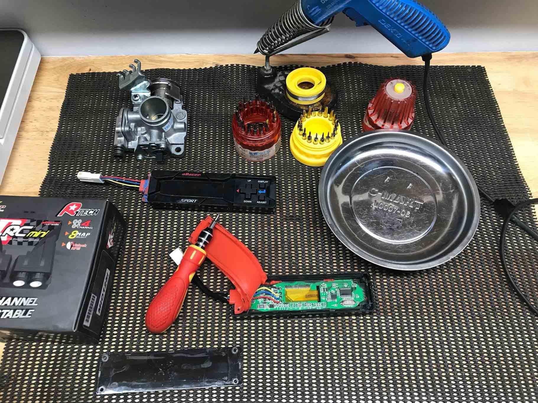 Các bộ phận chính sử dụng để độ phun xăng điện tử